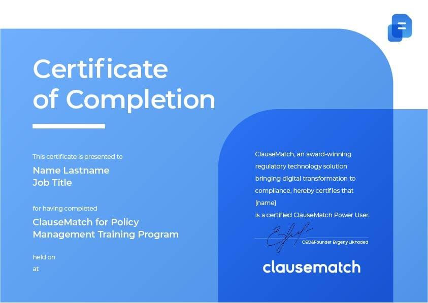 Clausematch Certification Program-1